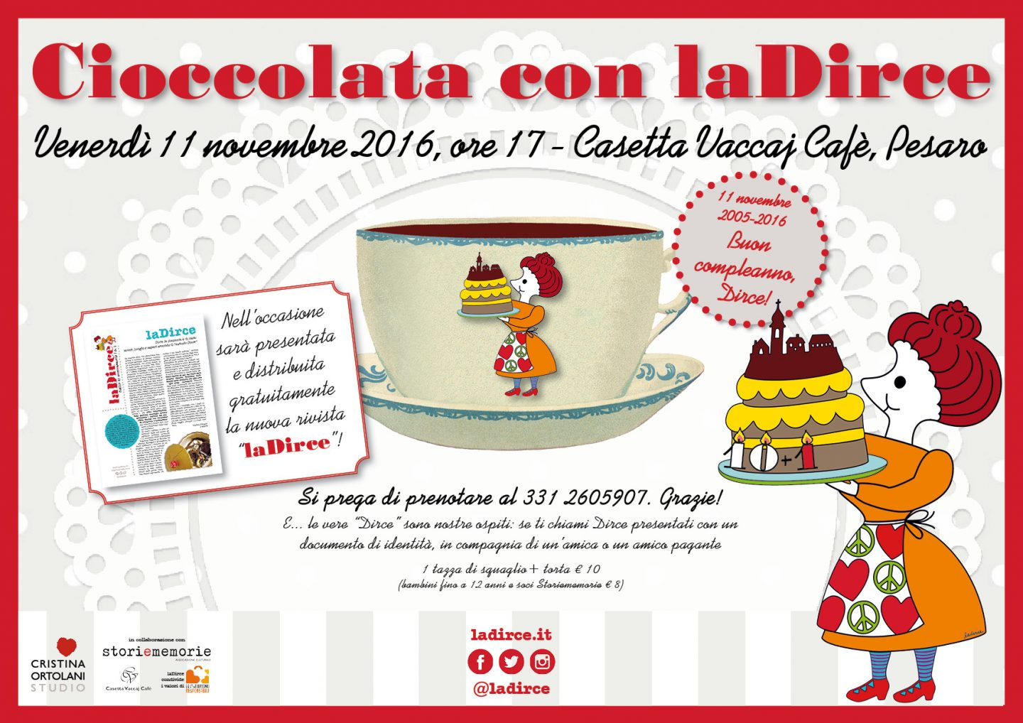 11 novembre 2016 - Cioccolata con laDirce