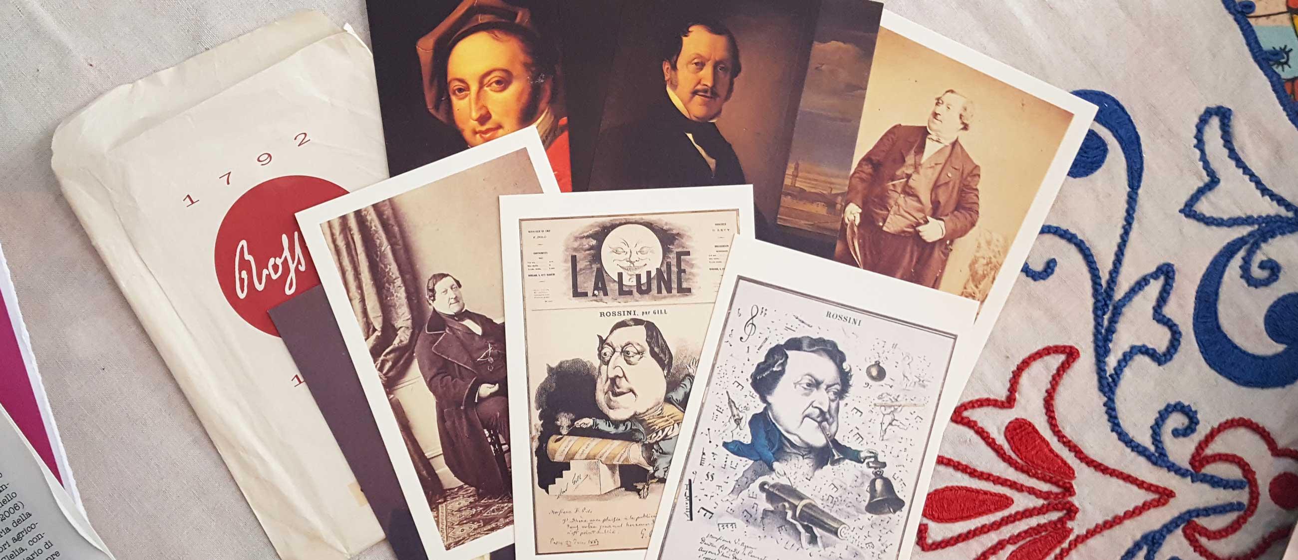 Gioachino Rossini, ritratti pubblicati in occasione del bicentenario della nascita (1792-1992), raccolta C. Ortolani, Pesaro